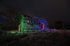 Lampa målad kabin Arkivfoto