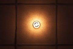 Lampa med det varma belysningspektret som byggs i tak Royaltyfria Bilder