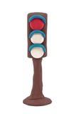 Lampa med en röd signalering arkivbild