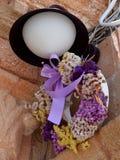 Lampa med kransen Royaltyfri Fotografi