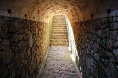 lampa in mot tunnelwhite arkivbild