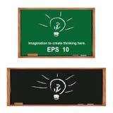 Lampa na blackboard. Zdjęcia Royalty Free