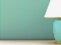 Lampa och randig wallpaper Royaltyfri Bild