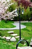 Lampa och trottoar Arkivbild
