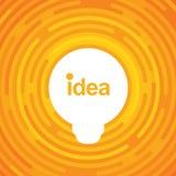 Lampa på färgrik bakgrund Idékula Täcka designen Symbol för ljus kula med begrepp av idéillustrationen Royaltyfria Bilder