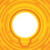 Lampa på färgrik bakgrund Idékula Täcka designen Symbol för ljus kula med begrepp av idévektorillustrationen Arkivfoton
