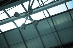 Lampa på flygplatsen i Bangkok Arkivbild