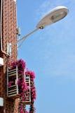 Lampa på konstruktion Royaltyfri Foto