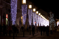 lampa posts rad Arkivfoton