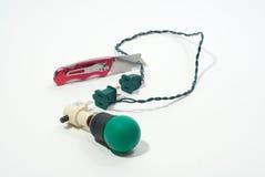 lampa rżnięty zielony nożowy drut fotografia royalty free