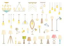 Lampa set ilustracji