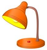 lampa stół royalty ilustracja