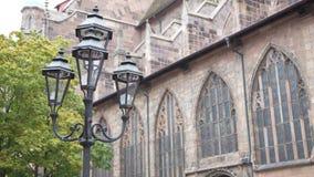 Lampa stojak, Nuremberg, Niemcy, Europa zdjęcie royalty free