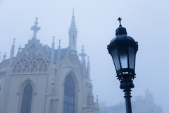Lampa storico nel parco nel Lednice Immagine Stock