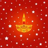 lampa tända stjärnor Arkivbilder