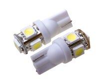 Lampa två för automatisk med 5 ljusdioder Fotografering för Bildbyråer