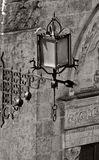 Lampa w czarny i biały zdjęcie royalty free