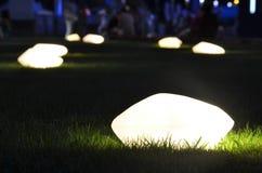 Lampa w nocy na ziemi Zdjęcia Royalty Free