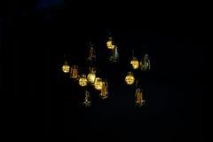 Lampa w retro stylu Przynosi pięknego świecznika Obraz Royalty Free