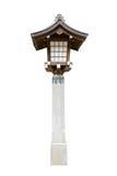 Lampa w tample, Japonia fotografia royalty free
