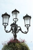 Lampa z kwiatami Obraz Stock