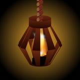 Lampa z ogieniem Fotografia Royalty Free