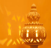 Lampada africana del nord decorativa di terracotta Fotografia Stock Libera da Diritti