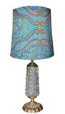 Lampada antica con la base di vetro Fotografia Stock Libera da Diritti