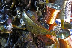 Lampada antica, lampada di Aladino, lanterna fotografia stock