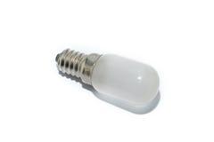 Lampada bianca su fondo bianco Immagine Stock