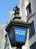 Lampada blu della polizia fotografia stock libera da diritti