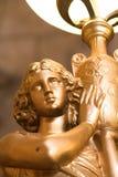 Lampada cattolica antica della statua Fotografia Stock