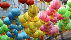Lampada cinese della lanterna archivi video