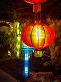Lampada cinese rossa Fotografie Stock Libere da Diritti