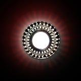 lampada circolare luminosa sul soffitto immagine stock libera da diritti