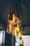 Lampada d'annata, bella decorazione di illuminazione fotografia stock libera da diritti