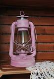 Lampada d'annata della lanterna dell'olio del cherosene Fotografia Stock Libera da Diritti