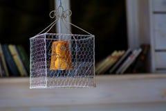 Lampada d'attaccatura moderna del cono Colore arancione Fotografia Stock