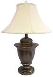 Lampada d'ottone antica della Tabella Fotografia Stock Libera da Diritti