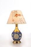 Lampada da tavolo ceramica di stile cinese Fotografie Stock