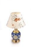 Lampada da tavolo ceramica di stile cinese Immagini Stock Libere da Diritti