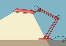 Lampada da tavolo di vettore illustrazione di stock