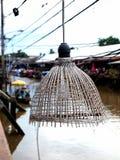 Lampada decorativa di bambù Immagini Stock