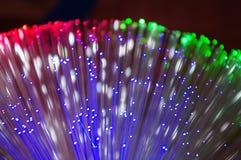 Lampada decorativa multicolore di vetro di fibra Fotografie Stock Libere da Diritti
