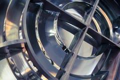 Lampada del faro con le lenti fatte degli anelli di vetro Immagine Stock
