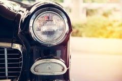 Lampada del faro di retro stile classico dell'annata dell'automobile Fotografia Stock Libera da Diritti