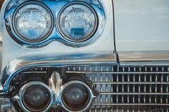 Lampada del faro di retro stile classico dell'annata dell'automobile Immagine Stock Libera da Diritti