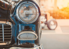 Lampada del faro di retro stile classico dell'annata dell'automobile Fotografie Stock Libere da Diritti
