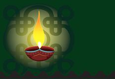 Lampada del POT nel ligh verde radiante illustrazione di stock