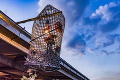 LAMPADA DEL RATTAN PER APPENDERE Fotografia Stock Libera da Diritti